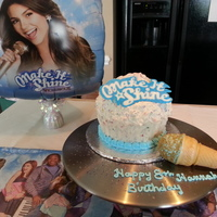 Victorious Themed Giant Cupcake Cake Done In Rainbow Chip With Edible Microphone Ice Cream Cone And Make It Shine Accent Done In Wilton... Victorious themed giant cupcake cake done in rainbow chip with edible microphone ice cream cone and Make it shine accent done in wilton...