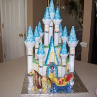 Castle Cake I Did For My Youngest Daughters 4Th Birthday   Castle cake I did for my youngest daughters 4th birthday