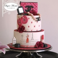 Turning 18 With Style!!!! Made for a pretty young lady for her 18th birthday party.