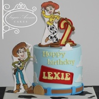 Toy Story Cake Woody And Jessie Were Hand Painted On Cutouts Of Fondant I Used No Gumpaste In This Cake As I Knew That The Kids Will Be E Toy story cake. Woody and Jessie were hand painted on cutouts of fondant, I used no gumpaste in this cake as I knew that the kids will be...
