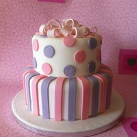 2 Tier Spots And Stripes Birthday Cake By Kitticakes