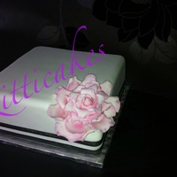 Carved Pink Rose Birthday Cake By Kitticakes