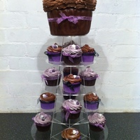 Cupcake Tower - Browns/purples By Kitticakes