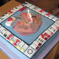 "12 Chocolate Covered In Ganache And Sugarpaste A Board Game For My School Friends 40Th Birthday Sheffield Shares Is A Property Tradin 12"" chocolate covered in ganache and Sugarpaste. A board game for my school friend's 40th birthday. 'Sheffield Shares'..."