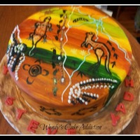 Aboriginal Inspired Birthday Cake   Aboriginal inspired birthday cake