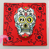 Mexican Skull Cake