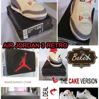 Air Jordan 3 Retro Shoe Cake Super Fun To Make   AIR Jordan 3 Retro Shoe Cake - super fun to make!
