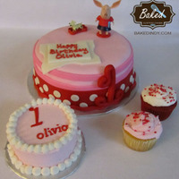 Olivia The Pig 1St Birthday Smash Cake And Cupcakes To Go With   Olivia the Pig 1st Birthday. Smash Cake and Cupcakes to go with.