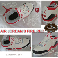 Air Jordan 3 Fire Red Shoe Cake It Was The Second Shoe Ive Done Looking Forward To The Third Air Jordan 3 Fire Red Shoe Cake. It was the second shoe I've done. Looking forward to the third... :-)