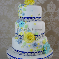 Inspired By The Original Pastel Coloured Design The Bride Wanted Her Colour Scheme Of Royal Blue And Yellow Incorporated Inspired by the original (pastel-coloured) design, the bride wanted her colour scheme of royal blue and yellow incorporated.