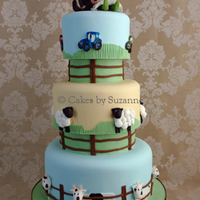 Farm Theme Cake With Separators.