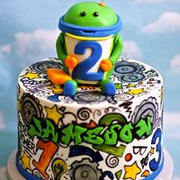 Team Umizoomi Cake With An Urban Flair Cake Is Hand Painted And Bot Is Made From Rkt Team Umizoomi cake with an urban flair. Cake is hand-painted, and Bot is made from RKT.