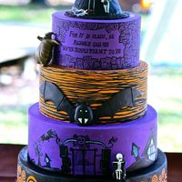 Nightmare Before Christmas Themed Wedding Cake Nightmare Before Christmas themed wedding cake