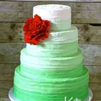 Green Ombre Buttercream Wedding Cake Green ombre buttercream wedding cake