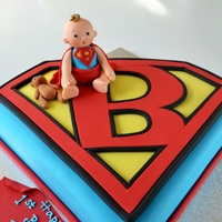 Super Baby Cake   This cute baby is Ben.Isn't he adorable with his superman outfit !