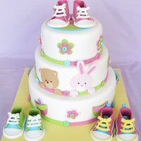 Baby Shoes Cake   I made this cake for Squires Kitchen's Cakes and Sugarcraft magazine issue 112.