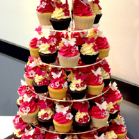 Butterfly Inspired Wedding Cupcake Tower Butterfly inspired wedding cupcake tower