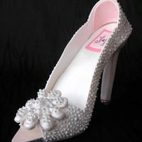 Gumpaste Diamond Shoe, Platform, Bling