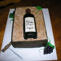 Wine Bottle In Crate Cake 001Jpg