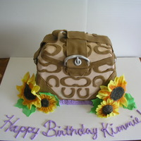 Coach Handbag With Sunflowers
