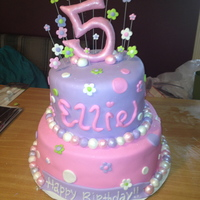 Girly 5 Year Old Birthday Cake girly 5 year old birthday cake