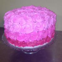 Pink Ombre Cake *pink ombre cake