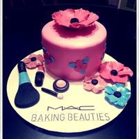 This Cake Was Made For A Mac Store Meeting To Introduce Their New Line Baking Beauties This cake was made for a MAC store meeting to introduce their new line - Baking Beauties!!