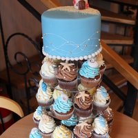 Beach Wedding Cupcake Tower Cake beach wedding, lighthouse cupcake wedding tower