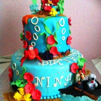 Little Mermaid Fondant Covered And Decorations With Bought Characters I Also Made The Boat From Fondant I Have More Photos That You Can Little Mermaid fondant covered and decorations with bought characters. I also made the boat from fondant. I have more photos that you can...