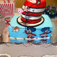 Cat In The Hatfondant Hat And Buttercream Base Cat in the Hat...Fondant hat and buttercream base.