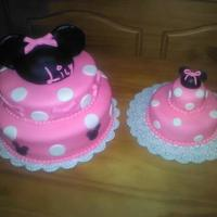 Minnie Mouse Cake With Matching Smash Cake   Minnie mouse cake with matching smash cake*