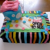 My First All Fondant Cake Next Will Be Smoother My first all fondant cake. Next will be smoother.