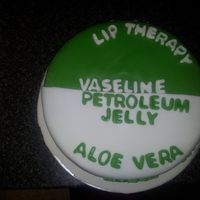Vaseline Cake  This cake is made of red velvet with white chocolate chip, My Icing is a little rough and my lettering has to be centered but this is my...