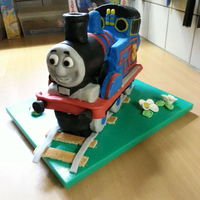 Thomas The Tank Engine My second attempt ever at creating a carved / decorated cake (for my nephew's 3rd birthday).