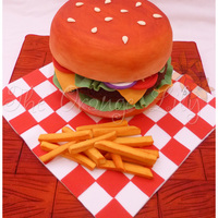 Hamburger Cake I really enjoyed making this cake and I'm glad how it turned out! Hope you like it!