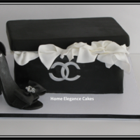 This Is My Version Of A Coco Channel Shoe Box Cake All Made By Sandra Httpwwwfacebookcomhomeelegancecakes This is my version of a coco channel shoe box cake! All made by Sandra @ http://www.facebook.com/homeelegancecakes