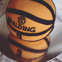 Spalding Basketball Cake First ever spherical cake I have made.Made entirely of cake!