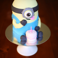 So Much Fun My 3D Minion Cake For A 21St So much fun! My 3D Minion cake for a 21st.