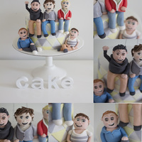 My One Direction Cake Made For An 18Th All Handmade Figurines My One Direction cake made for an 18th.All handmade figurines!