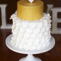 Gold And White Cake Gold and White Cake!