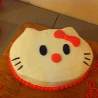 Hello Kitty White Cake With Butter Cream Hello Kitty! White cake, with butter cream.