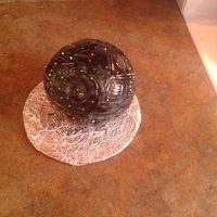 Deathstar Cake I Made For My Sons Scout Troop Silent Auction Its Chocolate Cake With Wilton Fondant I Dyed The Fondant Gray And Scored *Deathstar cake I made for my sons scout troop silent auction. Its Chocolate cake with wilton fondant. I dyed the fondant gray and scored...