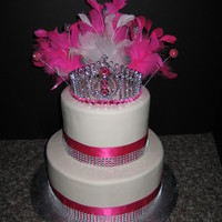 Pink Princess   Small cake for a sweet 15