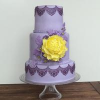 Purple And Yellow Cake Inspiration Purple and Yellow Cake InspirationThis cake I made for the birthday of my best friend.Made it in her favorite color and taste purple and...