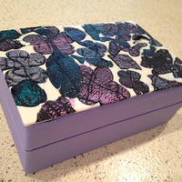 Abstract Flower Cookie Box Abstract Flower Cookie Box