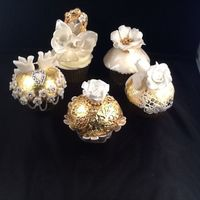 23Ct Edible Gold Leaf Cupcakes For Golden Weddingseparate Photos To See Each One Individually   23ct edible gold leaf cupcakes for Golden Wedding....separate photos to see each one individually.