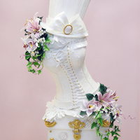 "Wedding Cake Corset This wedding cake won first competition en ""EXPOTARTA 2014"" in Madrid.S this award I am really satisfied. Everything is made from..."