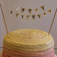 Ombre Gradient Birthday Cake With Pink To Cream Buttercream And Lemon Sponge Ombre gradient birthday cake with pink to cream buttercream and lemon sponge