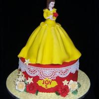 Belle Cake, Disney Theme Made this belle cake for a wonderful little girl who had a Belle theme cake.