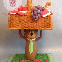 Yogi Bear Picnic Basket Birthday Cake Yogi bear picnic basket birthday cake